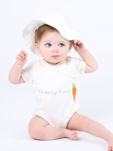 Short Sleeve Side Snap Bodysuit - Teeny Beany Print