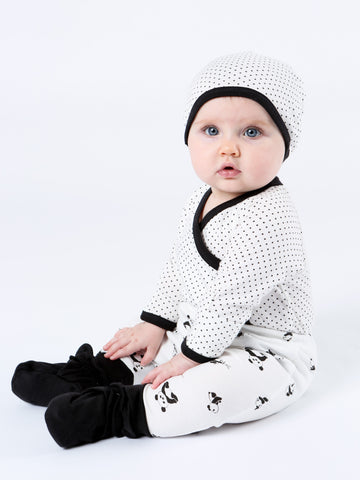 Long Sleeve Side Snap Bodysuit - Stork Print