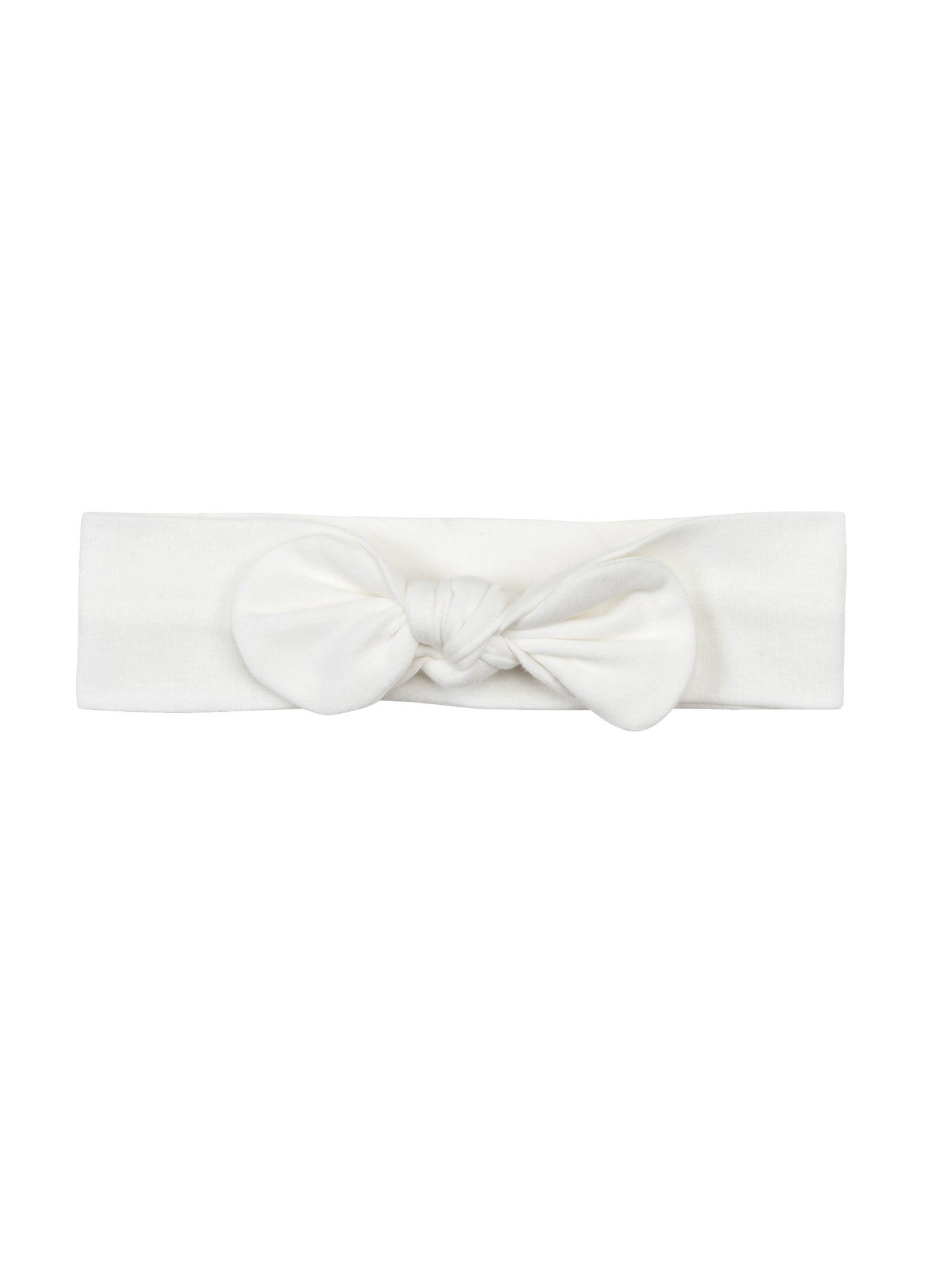 Organic White Baby Bow Headband