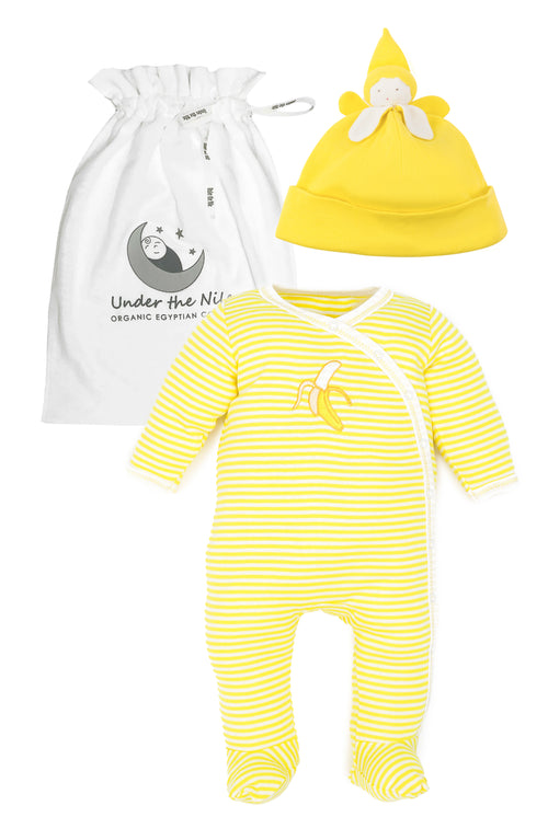 Banana Stripes Footie Gift Set