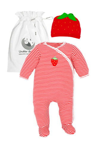 Carrot Stripes Footie Gift Set