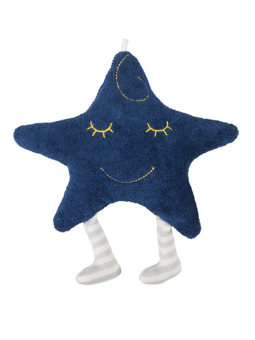Muslin Sleeping Lovey - Blue Starry Night