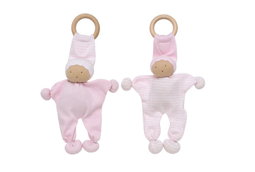 Baby Buddy Teething Toy 2 Pack - Pink