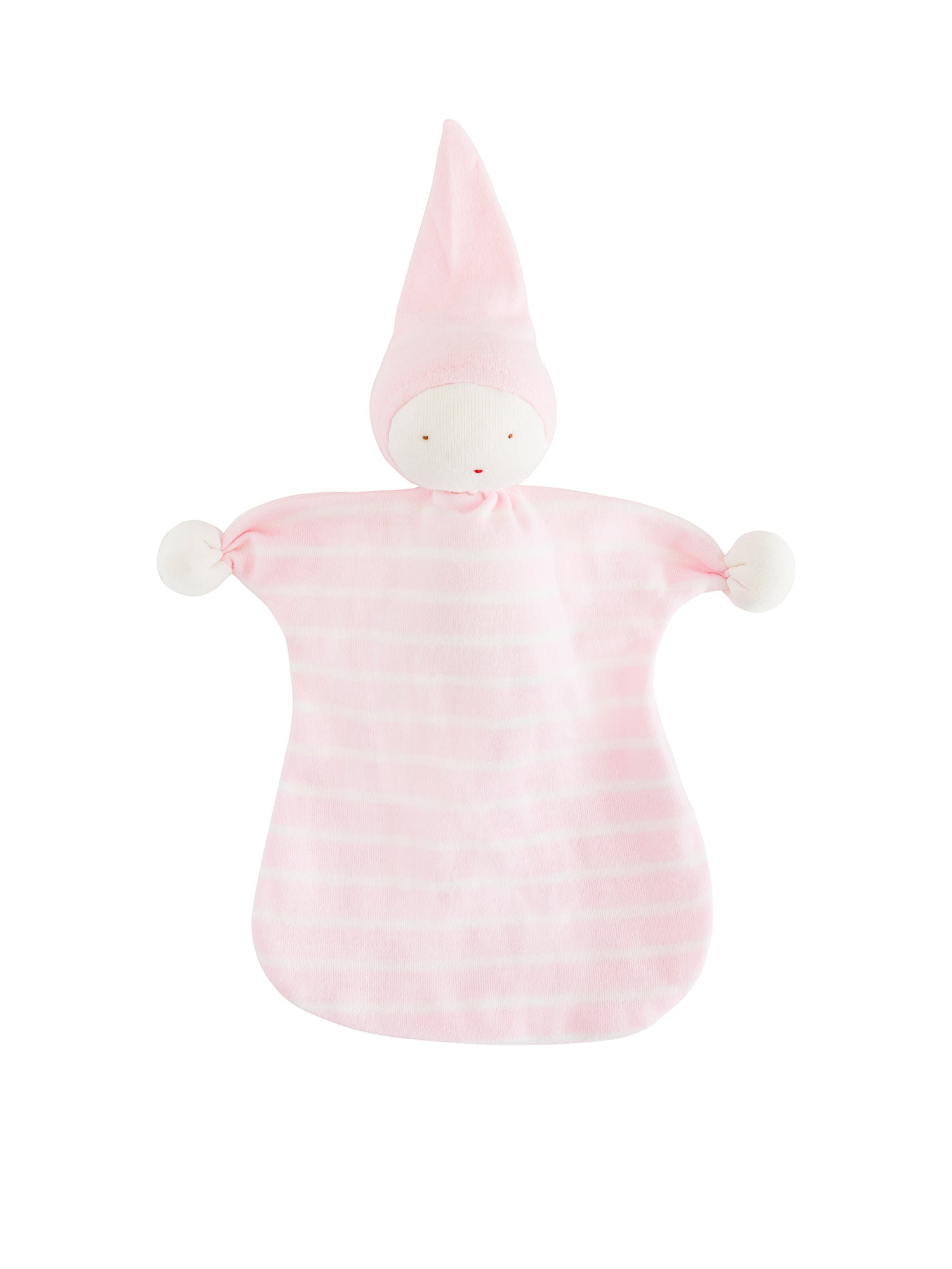 organic-cotton-baby-lovey-sleeping-doll-pink-stripe