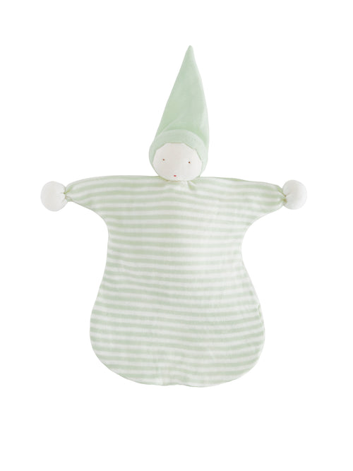 Sleeping Doll Lovey - Pale Sage Stripe