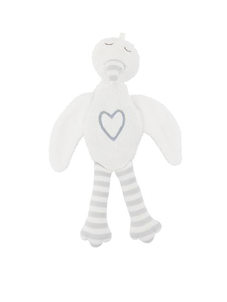 Stuffed Stork Plush Animal Toy - Grey Embroidery at 15% off