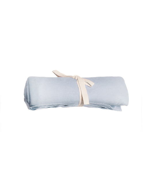 Flannel Swaddle Blanket - Ice Blue