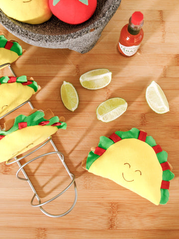 Side Snap Footie - Taco Print