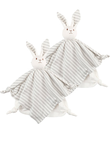 Big Handkerchief Lovey Doll - Aqua Stripe