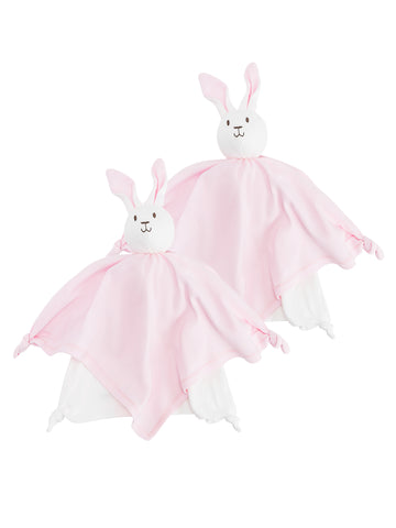 Lovey Bunny Blanket Friend - Pink Stripe