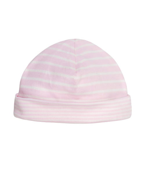 Reversible Beanie - Pale Pink Stripe