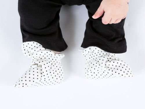 Snap Booties - Polka Dot