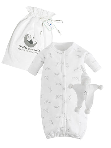 Side Snap Footie - Stork Print