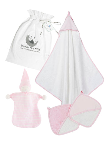 Deluxe Hooded Towel - Pink Stripe