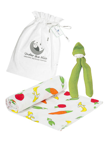 Homecoming Stork Embroidery Gift Bag Set