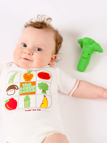 Muslin Side Snap Top & Pant Set - Fruit & Veggie Print