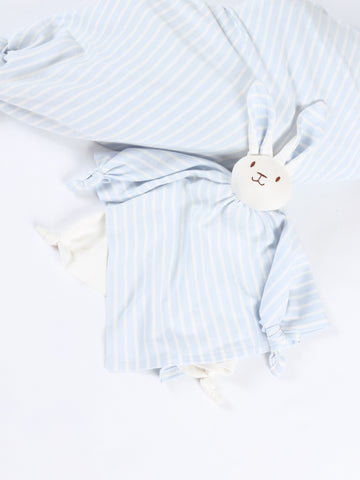 Sleeping Lovey - Pale Sage Stripe at 15% off