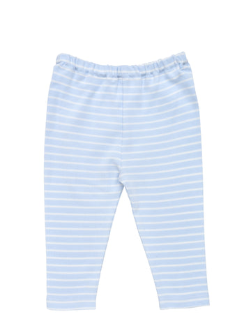 Snap Front Footie - Pale Pink Stripe