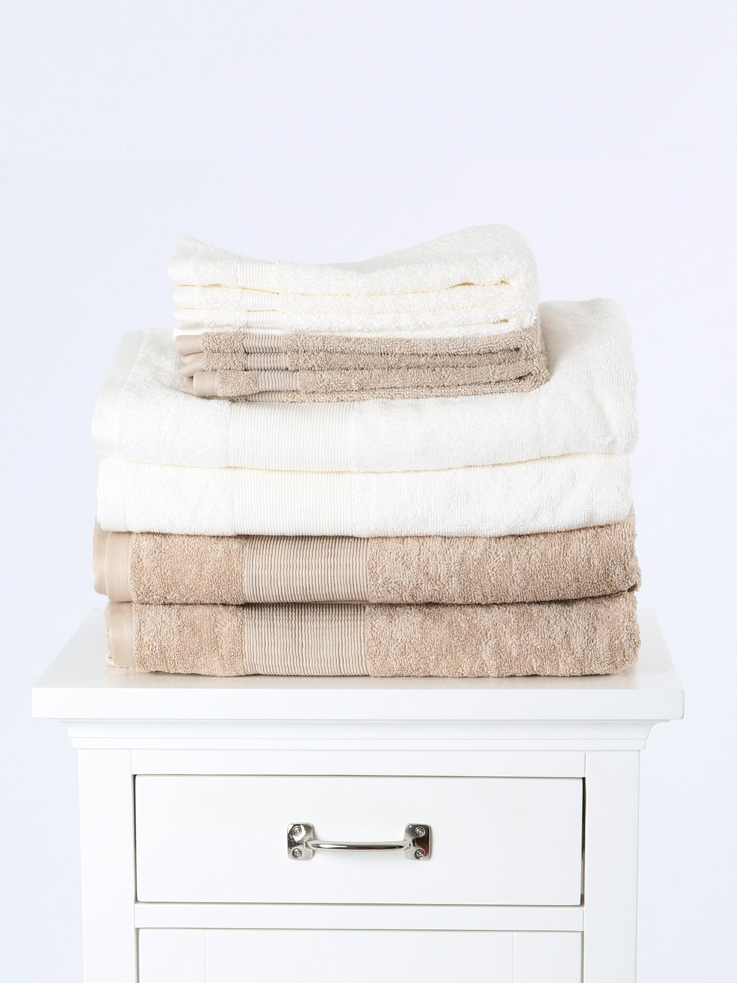 Plush Bath Towel- Organic White