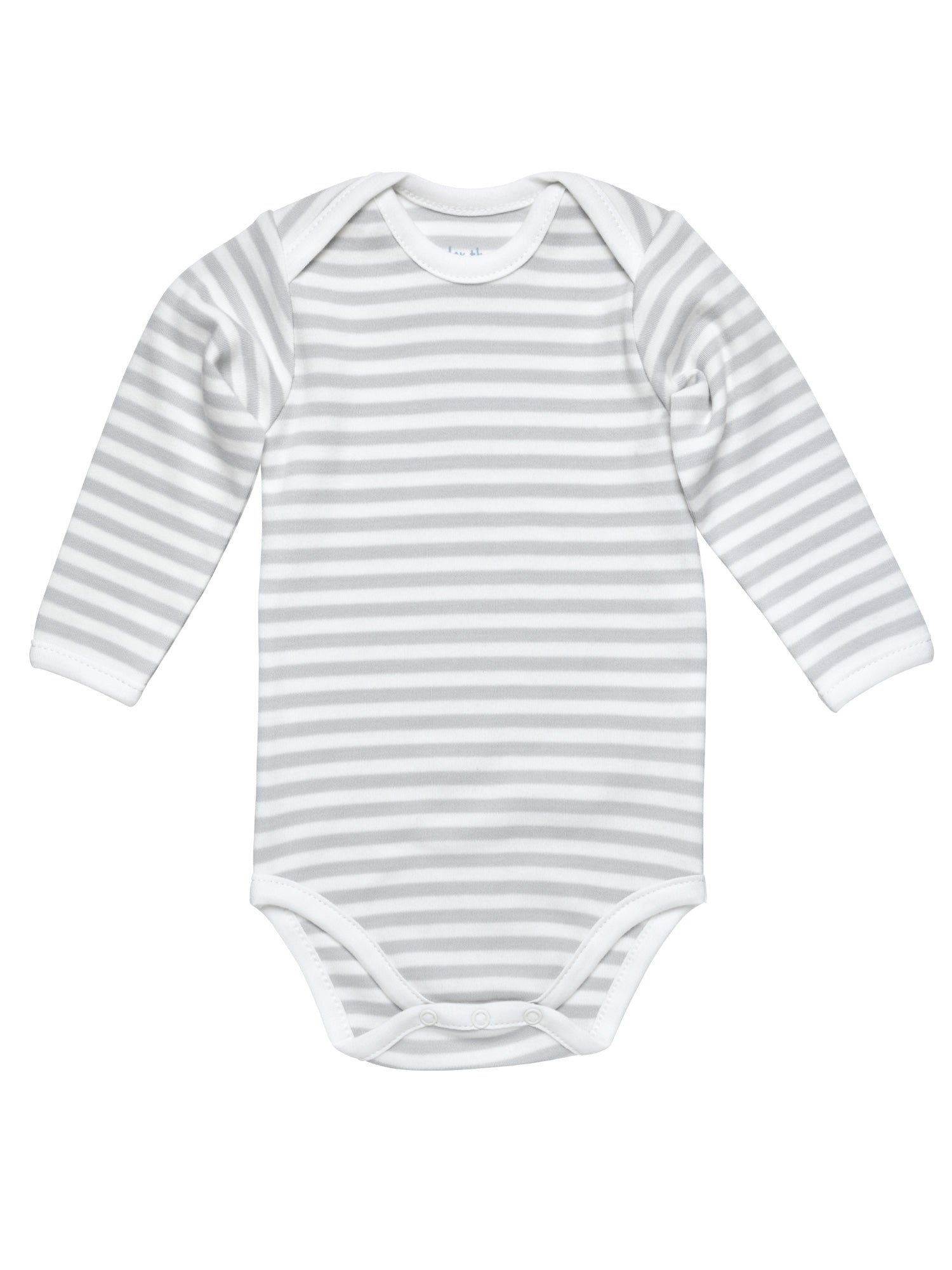Long Sleeve Lap Shoulder Bodysuit - Grey Stripe