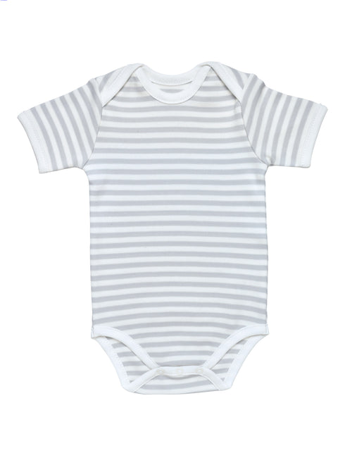 Short Sleeve Bodysuit - Grey Stripe
