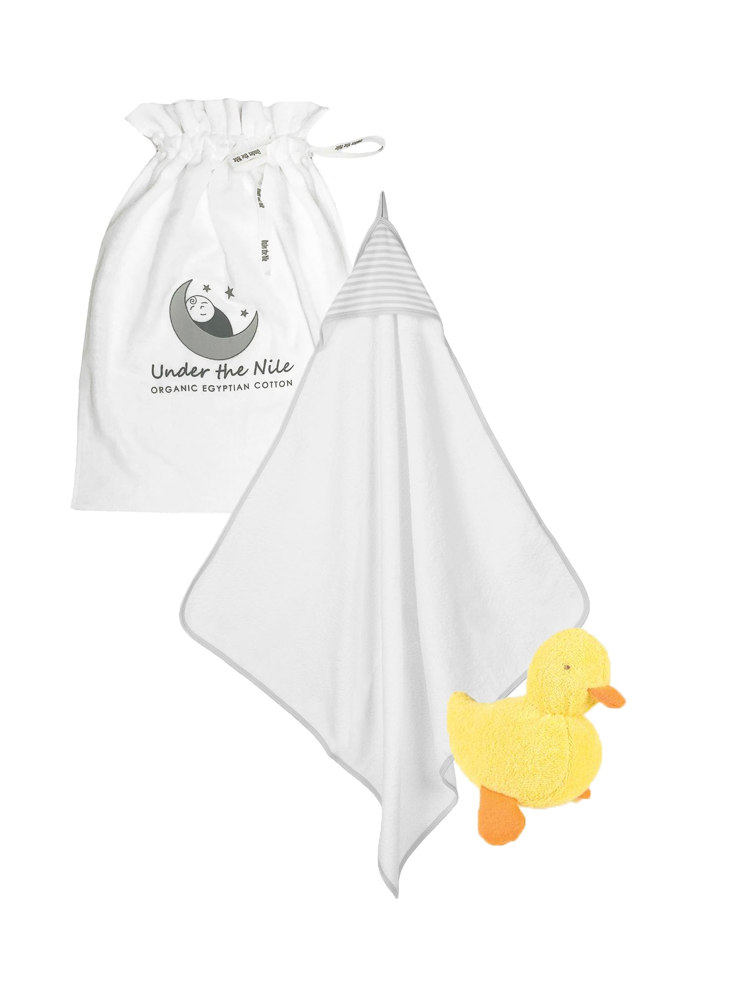 Grey Towel Duck Gift Bag Set
