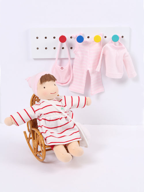Jill Dress Up Doll - Red and White
