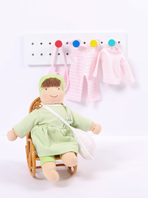 Jill Dress Up Doll - Pastel Green