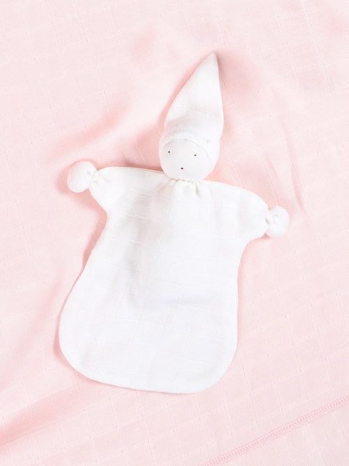 Muslin Sleeping Lovey - Organic White