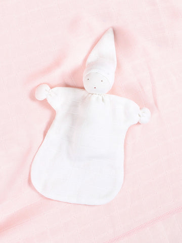 Sleeping Lovey - Pale Pink Stripe