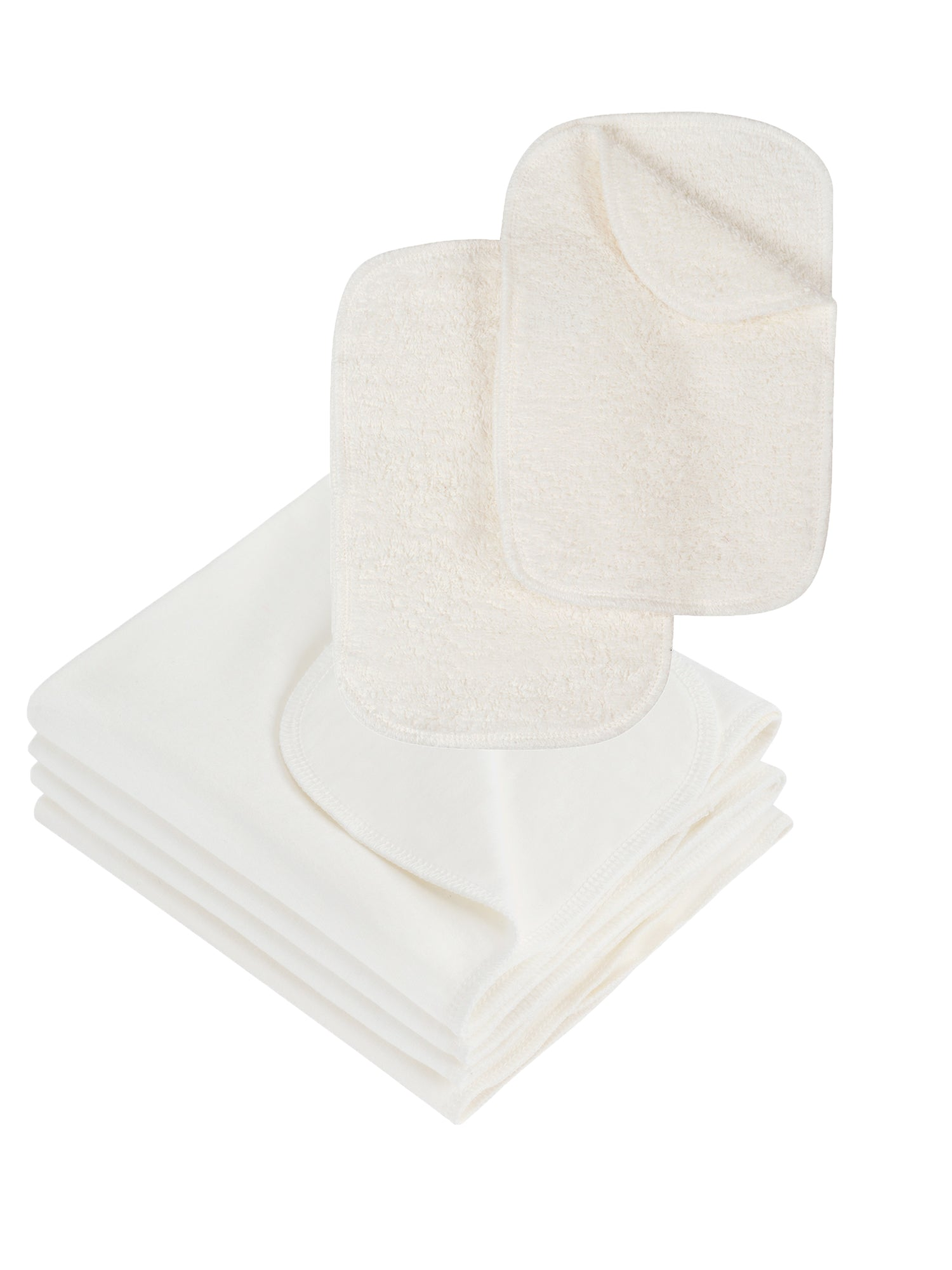 Terry Wipes + Burp Cloths Essentials Value Pack