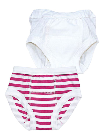 Potty Training Pants - Melange Pink Stripe