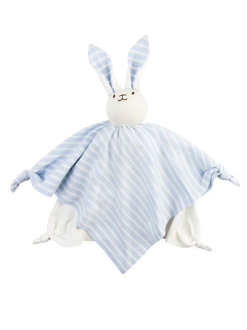 Lovey Bunny Blanket Friend - Pale Blue Stripe