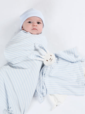 Swaddle Blanket - Thin Pink Stripe