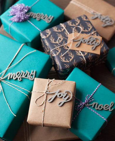Joy! A Hand Lettered Christmas Gift Tag