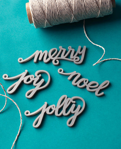 Merry Everything Calligraphy Gift Tag