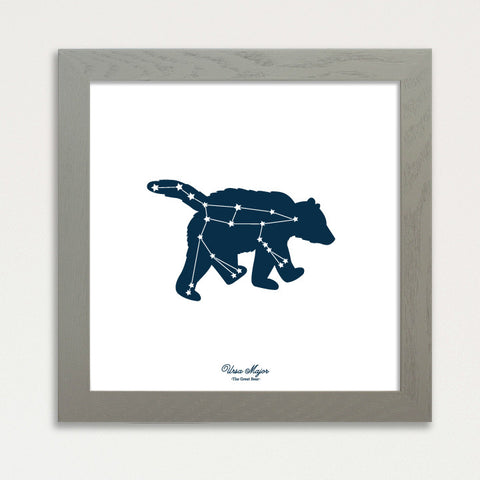 Ursa Major - Big Dipper Glow in The Dark Constellation Print