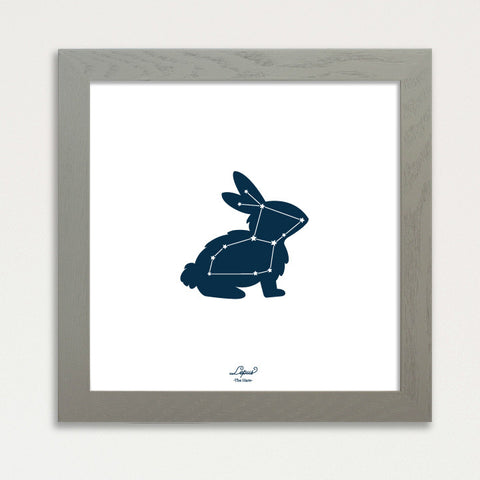 Lepus the Rabbit -  Glow in The Dark Constellation Print