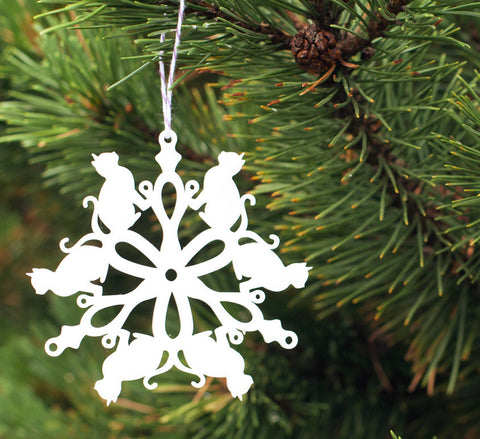 Tree Ornament - Cat Snowflake