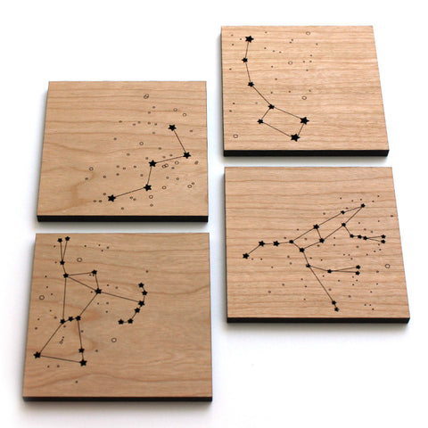 Star Constellations orion big dipper cassiopeia drin coasters laser cut peppersrpouts