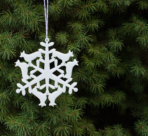 peppersprouts new 2015 animal snowflake ornament is a corgi