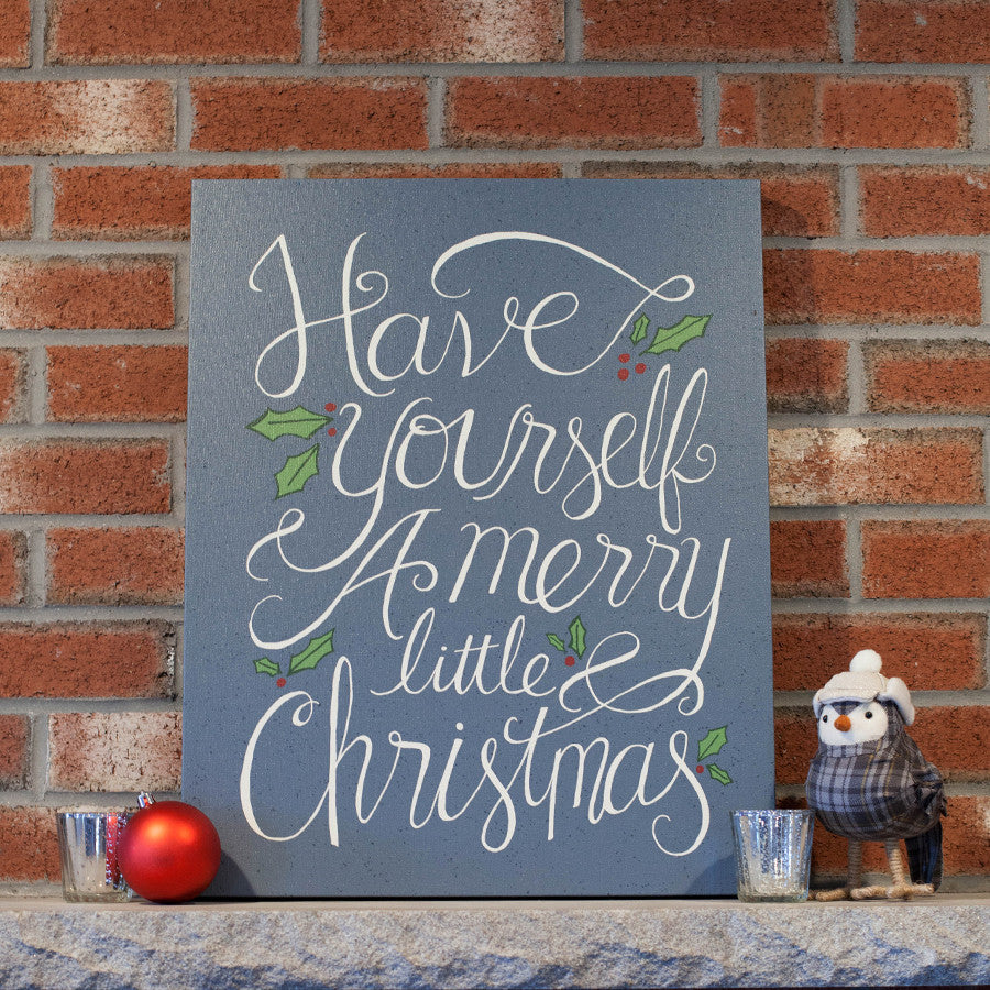 Merry little christmas canvas print peppersprouts solutioingenieria Gallery