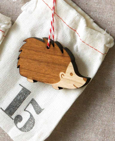 hedgehod ornament in woodland advent calendar handmade by peppersprouts