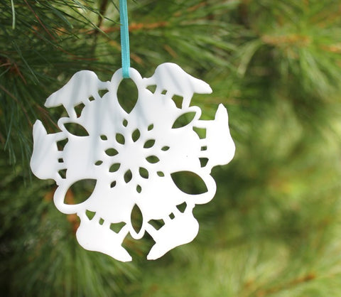 Tree Ornament - Polar Bear Snowflake