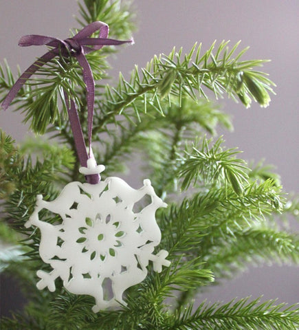 mini snowflake ornaments from peppersprouts acrylic laser cut animals snowflakes mini tree ornaments
