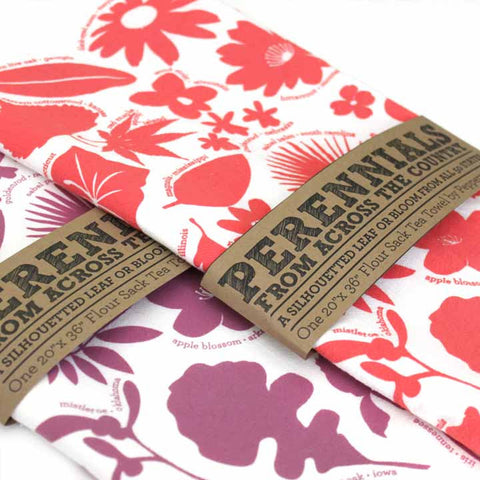 Kitchen Towel - 50 State Trees & Flowers - Coral