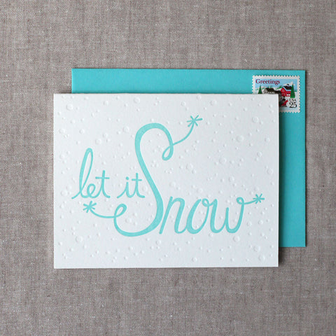 Let It Snow Letterpress Card