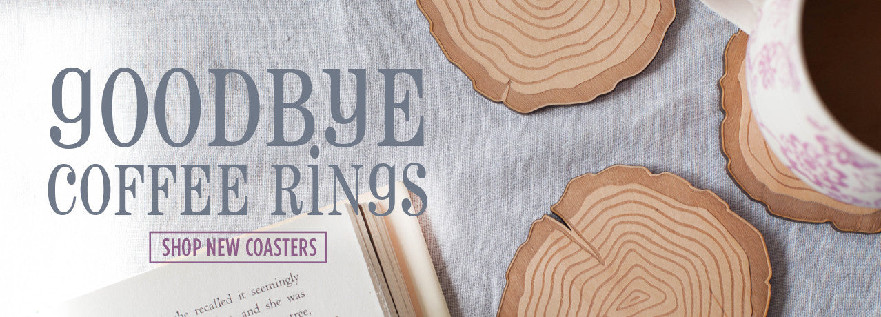 New tree rings coasters from peppersprouts thin - lightweight and wood