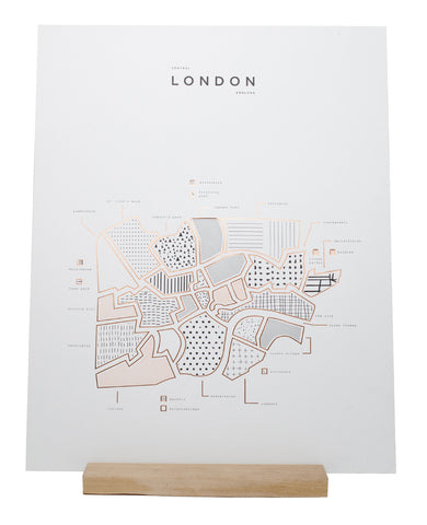 Roam by 42 Pressed - London Print