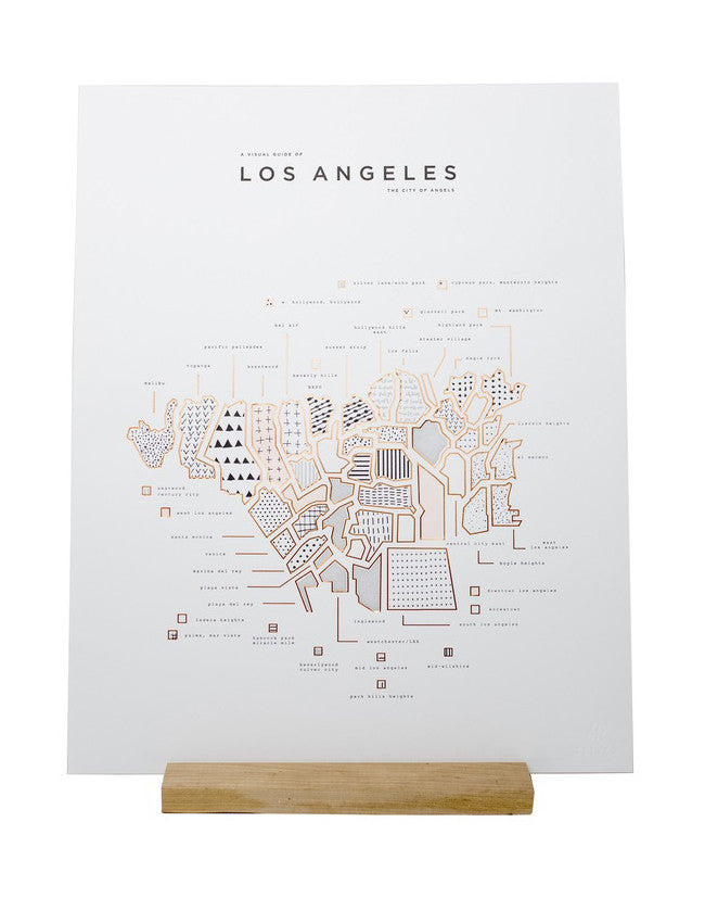 Roam by 42 Pressed - Los Angeles Print